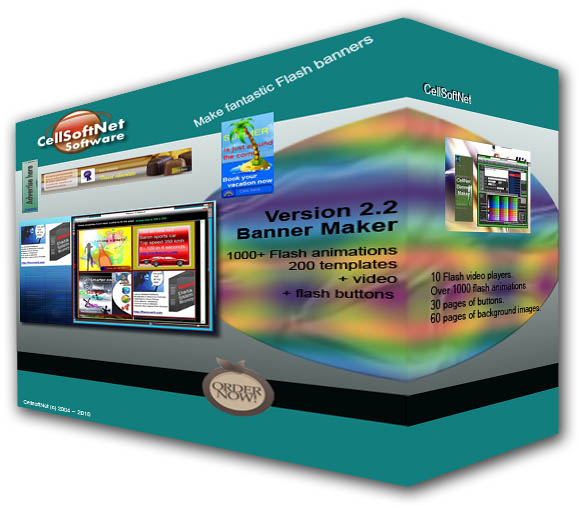 Click to view CellSoftNet Banner Maker 2.2 screenshot