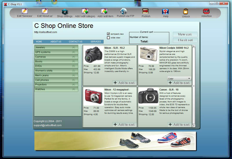 C Shop screenshot