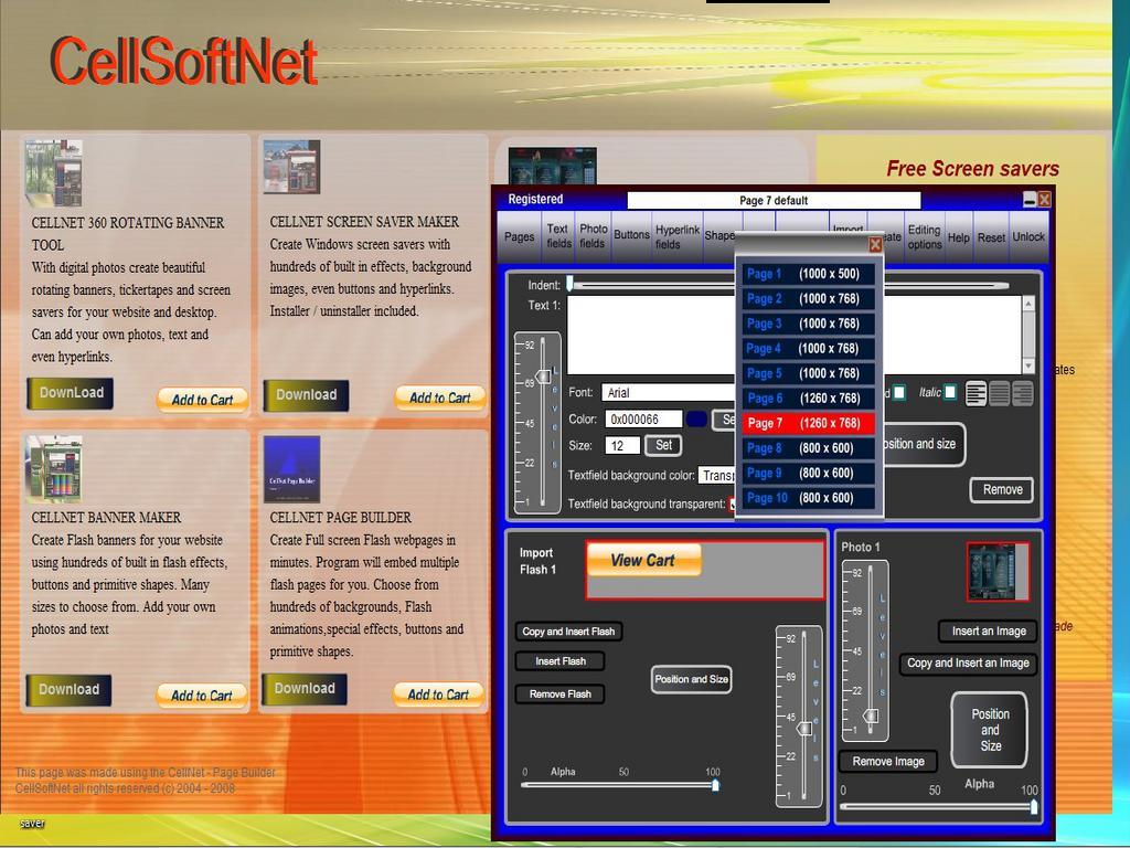 CellNet Page Builder