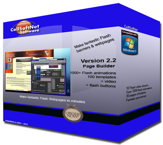 CellSoftNet Page Builder screen shot